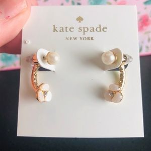 Kate Spade NWT Gold Disco Pansy Ear Jackets